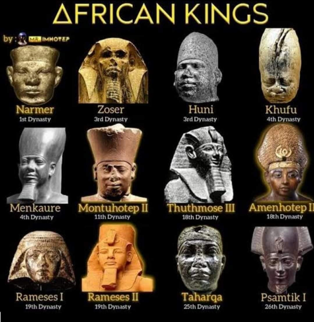 Various African Kings starting from 32nd Century BC