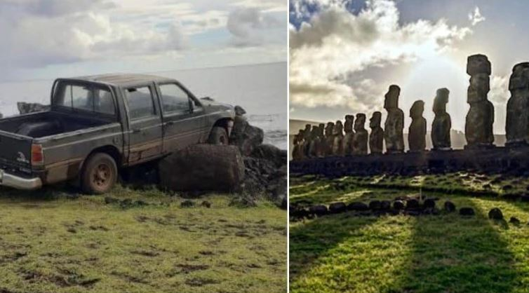 Easter Island statue destroyed after truck collides into it