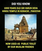 And this belongs to our glorious Indian History. What an insult to our temples.