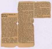 This article appeared in the newspaper  The Hindu in 1950 when Mr. Kasturi  ( father of N Ram)was th