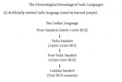 How the Indian Languages were developed. Interesting to read and note.