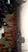 *A procession of Sadhus, Agoras, in Haidwar in support of Modi's CAA. No on