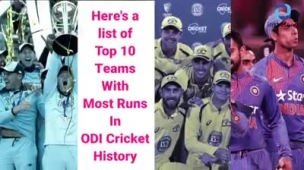 Top 10 #Teams With Most #Runs In the #History of ODI #Cricket #IndianCricke