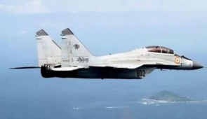 Mig 29k aircraft of Navy crashes off Goa, pilot ejects safely  Panaji:A Mig 29 k aircraft of Indian Navy whi