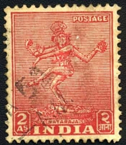 A vintage Postal Stamp on Nataraja costing Two Anna - A sort of Curren