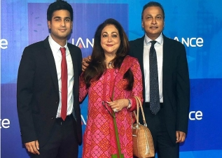 Anil Ambani and sons get lockdown haircut at home. Photos by Tina Ambani