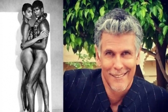 Milind Soman shares One of the nude controversial pic with Madhu Sapre of 90s