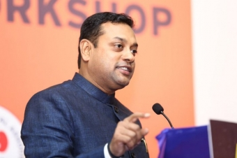 Sambit Patra booked for tweets against Jawaharlal Nehru and Rajiv Gandhi
