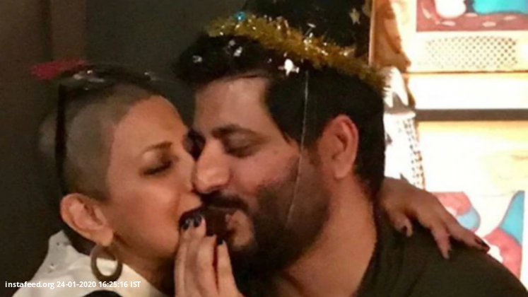 Sonali Bendre shares rare pics from personal album to wish husband Goldie B