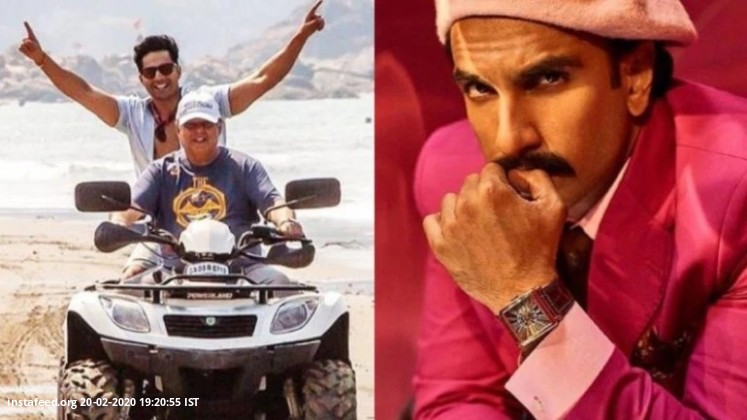 Varun and David Dhawan are doing all things Goa on Coolie No 1 shoot. Ranveer Singh approves  Varun