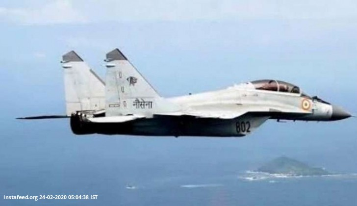 Mig 29k aircraft of Navy crashes off Goa, pilot ejects safely  Panaji: A Mig 29 k aircraft of India
