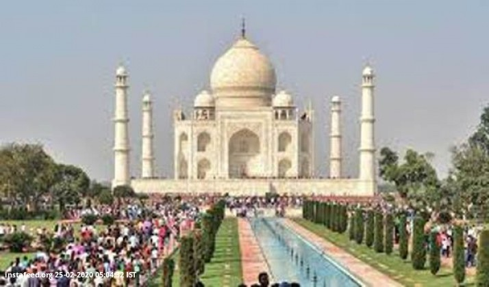 Taj Mahal's tombs cleaned for 1st time in 300 years for Trump  The famous tombs at the Taj Mahal are