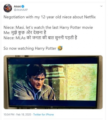 AAP MLA Atishi Marlena puts up an endearing anecdote about her niece and Netflix, except it is factu
