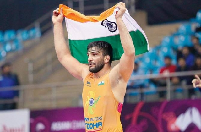 Sunil Kumar Ends India's 27-year Wait in Greco-Roman With Gold at Asian Wrestling Championships