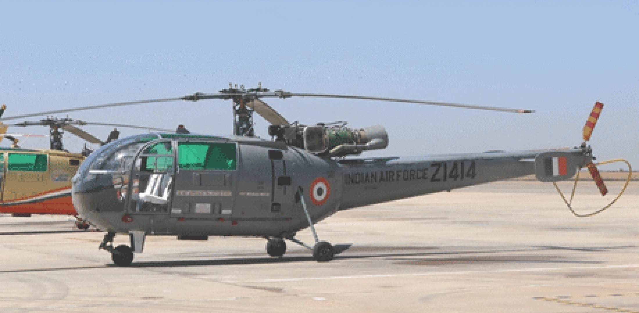 Indian Army Chetak helicopter made a precautionary landing in Ropar af
