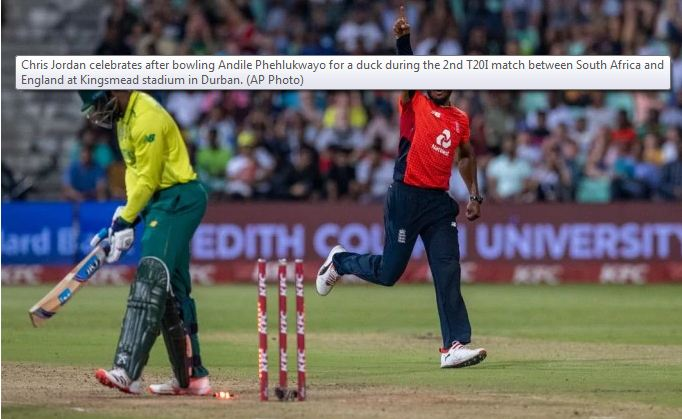 England win last-ball thriller to level T20 series vs South Africa