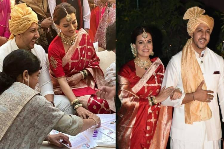 Dia Mirza took her wedding vows looking as gorgeous as a dream, check here for pictures