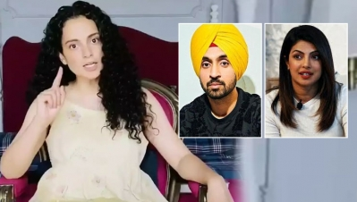 Kangana Ranaut showed feirce recation on the Tractor March, said Congratulations Diljit and Priyanka
