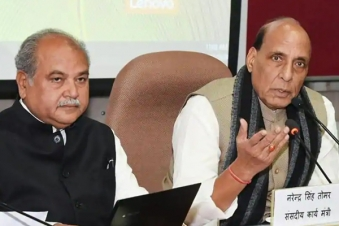Tomar and Rajnath Singh meet, discuss 'all possible alternatives' to end stalemate